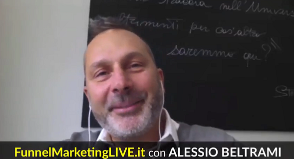 Speaker al Funnel Marketing Live 2018 Alessio Beltrami