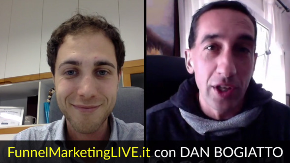 Speaker al Funnel Marketing Live 2018 Dan Bogiatto